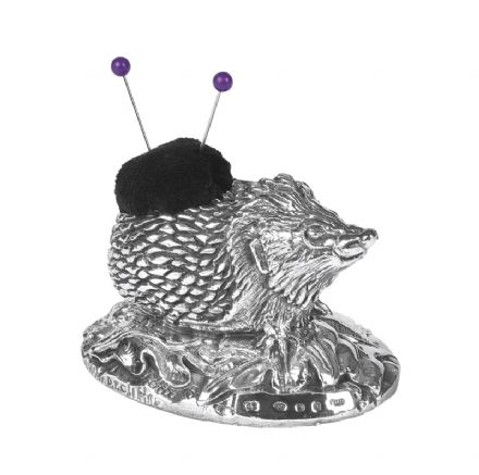 Sterling Silver Hedgehog Pin Cushion